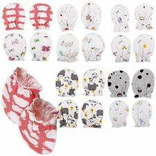 2 PAIRS Baby Infant Anti Scratch Mittens Soft Cotton Gloves Handguard