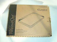 New in Box Pampered Chef Natural Clay Small Bar Pan w/Scraper Made in USA