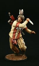 Tin soldier, Collectible, Attacking Indian with Knife 54 mm, American Natives