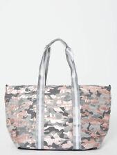 Think ROYLN Wingman Large Tote Bag Duffle Weekender Shiny Pink Camo NWT