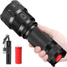 Super Hell 90000lm echte Polizei Taschenlampe CREE L2 LED Fackel + USB Ladegerät