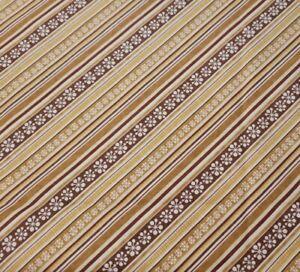 """1 yd 4"""" Jingle Bell Snowmen Wilmington Tan Brown Snowflake Diagonal Stripe"""