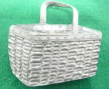 Longaberger Basket Pewter Refrigerator Magnet One Handle