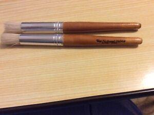 "Plaid Bristle 1/2"" stencil brush with long handle."