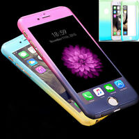 Hybrid 360° Hard Ultra thin Case+Tempered Glass Cover For iPhone 6 6S Plus S11