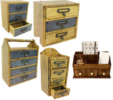New : Small Rustic Cabinets : Storage Units : Wall Units : 3 & 4 Drawers Metal