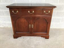 DREXEL CARLETON SOLID CHERRY CHIPPENDALE STYLE BAR CART - SERVER