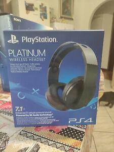 CUFFIE SONY PLATINUM PS4 WIRELESS HEADSET PLAYSTATION 7.1 - 3D AUDIO USATO