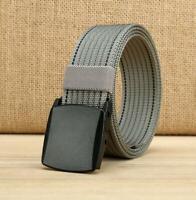 Nylon Military Tactical Men Belt Canvas Outdoor Web Belt With Plastic Buckle