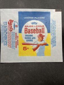 1963 Fleer Baseball Cards 5 Cent Wax Wrapper Reprint