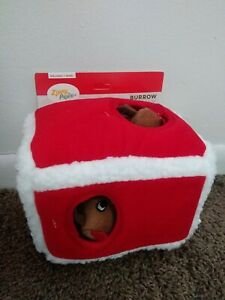 Zippy-Paws Christmas reindeer House Burrow Puzzle Puppy/Dog Toy