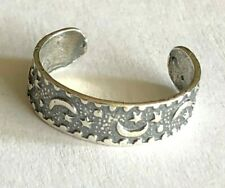 Moons N Stars~ $6.99 All Sterling Sterling Silver .925 Toe Ring~ Lightweight