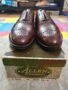 New! Vintage 7 Eyelets Allen Edmonds Boulevard Size 9.5D