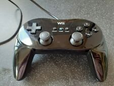 Nintendo Wii Classic Official Black Wired Pro Controller Tested Working