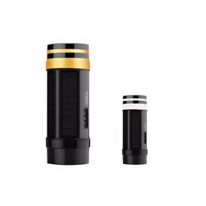 TECHKO Black Solar LED Outdoor Sconce Single Direction Amber or White Light