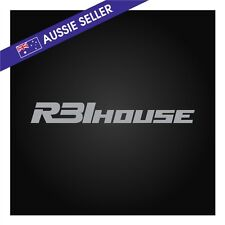 R31House Sticker Decal SILVER suit R31 Skyline GTS GTSX GTSR JDM Passage House