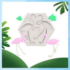 Flamingo Leaf Silicone Fondant Cake Mould Animal Birds Leaves Baking Icing Mold
