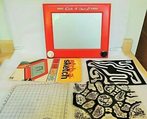 Etch a Sketch Magic Board-Instructions+3 sheets -  vintage Early edition