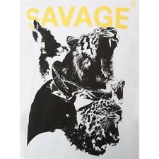 CRIMINAL DAMAGE Savage Animal Printed T-Shirt.   Size: Large