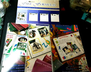 Creative Memories Scrapbook Design and layout Books Crafts Lot of 4 New