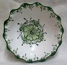 "5"" Vintage Vestal Portugal Handpainted White & Green Floral Bon Bon Dish/Bowl"