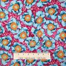 Calico Fabric - Kings Road Cucina Blue Flowers on Purple-Pink - Cotton YARD