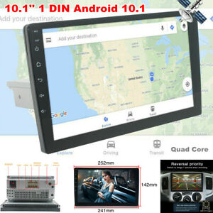 """10.1"""" Single DIN Android 10.1 Touch Screen WiFi Car Stereo Radio GPS MP5 Player"""