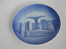 Copenhagen porcelain l Plate Olympic Games LOS ANGELES 1984 HARD TO FIND