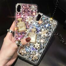 Bling Luxury Crystal Diamond Rhinestone Flower Bottle Clear Case Cover Shell