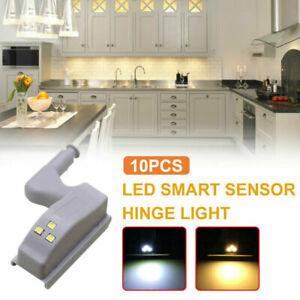 1-10pcs Cabinet Closet Hinge Lights Wardrobe Door Inner LED Sensor Light Kitchen