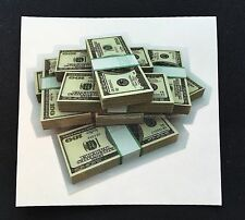 Money Pile Vinyl Sticker Sex Power Rich Decal Hot Car Loot Cash $ Bills