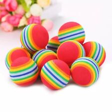 1Pc Rainbow Pet Toy Interactive Balls Dog Cat Puppy Teeth Play Chewing Tooth Cle