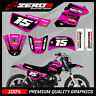 YAMAHA PW50 MOTOCROSS MX GRAPHICS DECAL KIT MUSCLE MILK BLACK / PINK