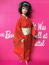 Vintage AMERICAN GIRL Brunette SIDE PART Long Hair Japanese BARBIE DOLL BYAPRIL
