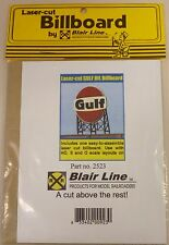 Blair Line O Or HO Scale Laser Cut Wooden Gulf Oil  Billboard Sign 2523