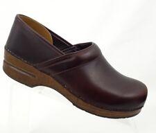 DANSKO 41 Women Brown Leather Slip On Shoes Professional Clogs Size US 10.5-11