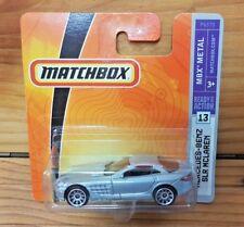 MATCHBOX 2009 MERCEDES-BENZ SLR MCLAREN 13/75 BLUE SILVER (A+/A-)