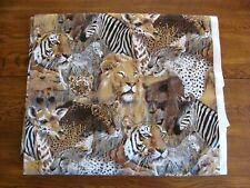 Tiger Lion Big Cat Wild Animal Safari Print Fabric 6.5 Yds House N Home Fabrics