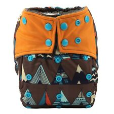Baby Cloth Diaper Nappy Cover Bamboo Charcoal Reusable Gussets Teepee For Boys