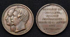 Napoléon III & Eugénie Impératrice Mariés le 30 Janvier 1853 à Notre Dame- 35 mm