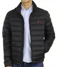 New XLT POLO RALPH LAUREN Mens Packable Puffer Down Jacket Coat Black $228