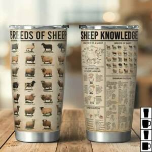 Breeds Of Sheep, Sheep Knowledge 20oz Stainless Steel Tumbler