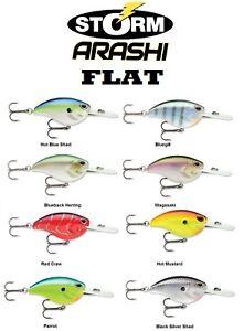 "Storm Arashi Rattling Flat 7 CrankBait, AFT07, 2-1/8"" 7/16, Choice of Colors"