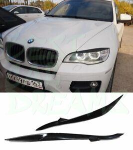HEADLIGHT EYEBROWS COVERS TRIM FOR BMW X6 E71 (LED LIGHT) 2008-2014