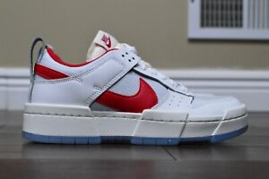 """DS Nike Dunk Low Disrupt Womens """"Gym Red"""" CK6654-101 size 7"""