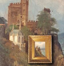 ERNST SAGAR DUPRIN Antica roma di reno,Castello Pietra del Reno. Orig. antico