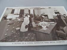 Remington Rand    Office Furniture  Special Exhibition 1940's   POSTCARD VINTAGE