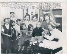 1957 Carpentier Children Receive Polio Vaccine Naval Air Station MN Press Photo