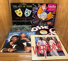Lot 80's Rap Hip Hop Records LP Krystol MC Flex Whodini Art Of Noise Lushus Daim