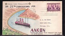 SCOTT 856 PANAMA CANAL HAND PAINTED FIRST DAY COVER FDC BEN KRAFT